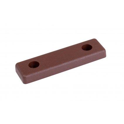 Kluzák podnože 50x14x5mm, plast, hnědý, 4 ks