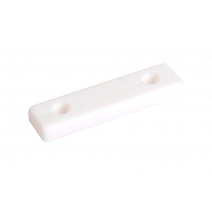 Kluzák podnože 50x14x5mm, plast, bílý, 4 ks