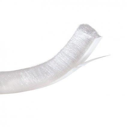 Těsnící kartáč 12mm, L 5,5m, bílý