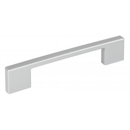 Nábytková úchytka rozteč 128mm, délka 139 mm, plast, stříbrná