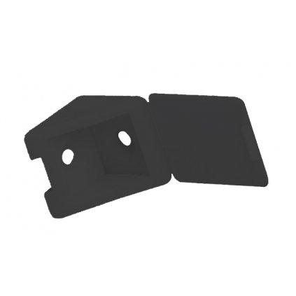 Spojovací úhelník 22x22x23mm, plast, černý, 1 ks