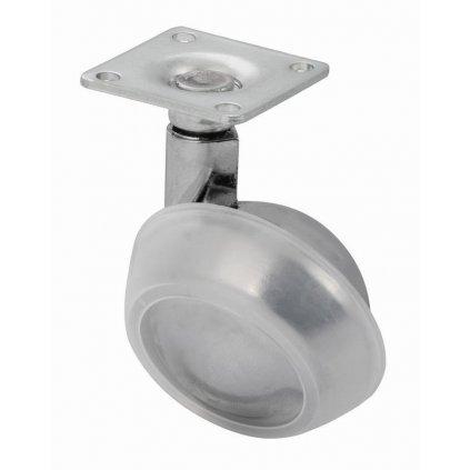 Nábytkové kolečko pro měkké podlahy, průměr 50 mm, s plotýnkou