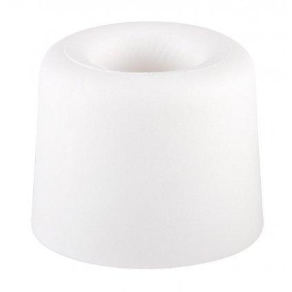 Dveřní zarážka, průměr 29,5x25mm, bílá