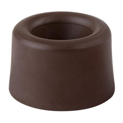 Dveřní zarážka, průměr 40x25mm, hnědá