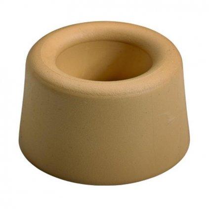 Dveřní zarážka, průměr 40x25mm, béžová