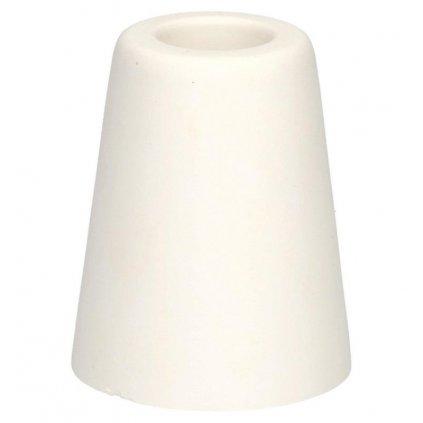 Dveřní zarážka, průměr 50x60mm, bílá