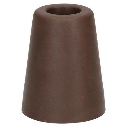 Dveřní zarážka, průměr 50x60mm, hnědá