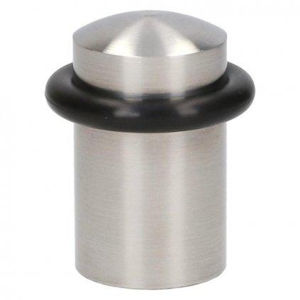 Dveřní zarážka, průměr 35x46mm, nerez