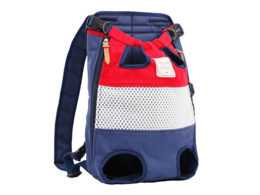 klokanka na psa cerveno modra 2