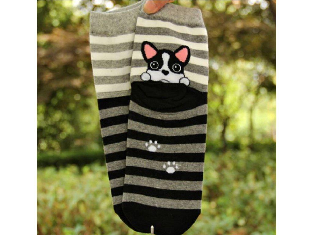 Veselé ponožky pro páníčky Happy dog