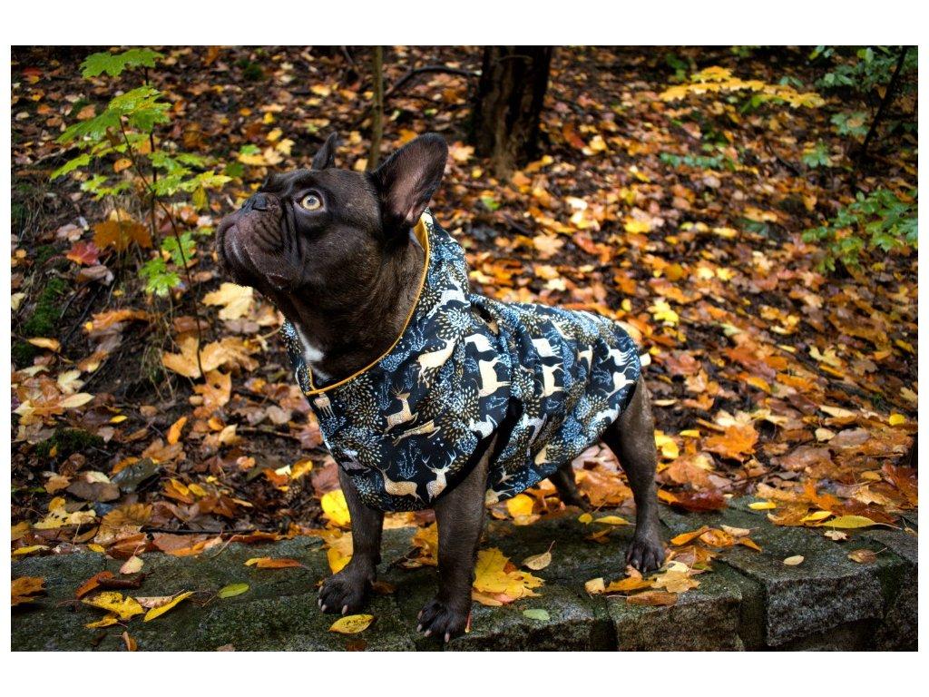 Nepromokavá zateplená bunda pro psa - Jelen
