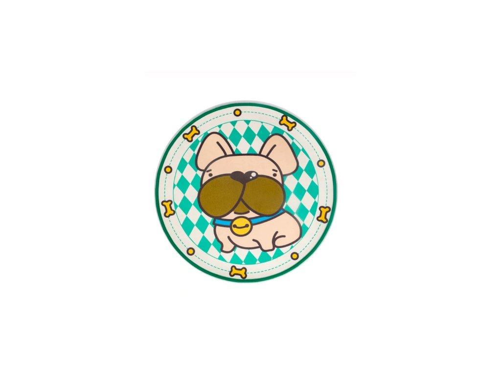 Protiskluzová podložka pod psa (Vzor Francouzský buldoček)