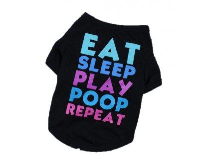 Tričko - EAT SLEEP PLAY (Velikost L)