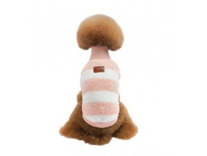 Bavlněný svetřík pro pejska (Barva Růžová, Velikost S)