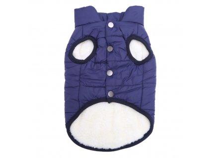 zimni bunda pro psa modra