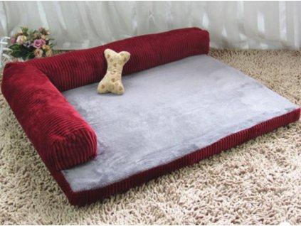 Luxusní velká psí postel (Barva Červená, Velikost L)