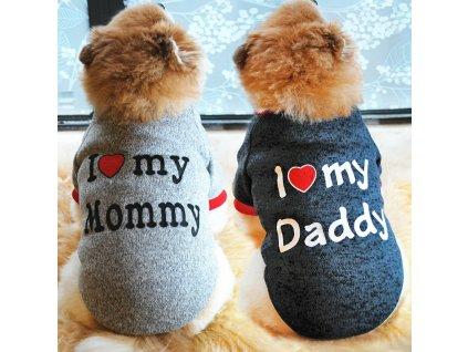 Tričko i love mommy daddy2
