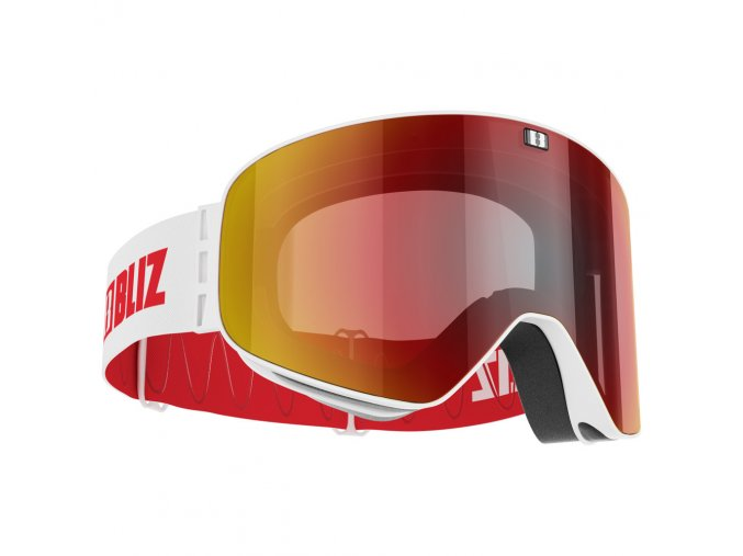 bliz flow m14 matt white brown with red multi lens yellow filt 2019 original