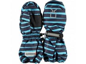 color kidsblauw gestreepte kinderwanten gadoni waterproof