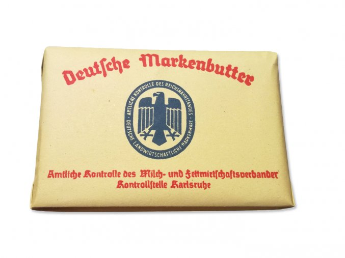 WW2 Reproduction german butter label paper wrap wehrmacht