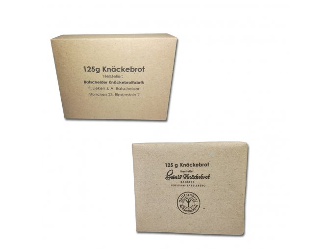 Knäckebrot Wehrmacht box and paper wrap
