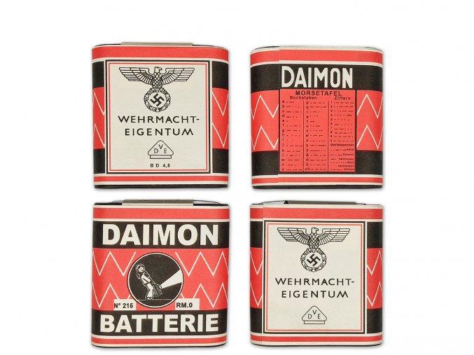 WW2 German Wehrmacht Daimon 4,5v flat battery for flashlight
