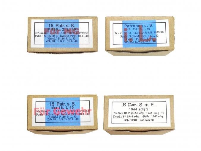 WW2 German ammo boxes mix Pocket litter warcopy