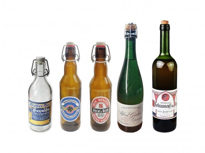 WW2 German bottle labels wehrmacht War ration