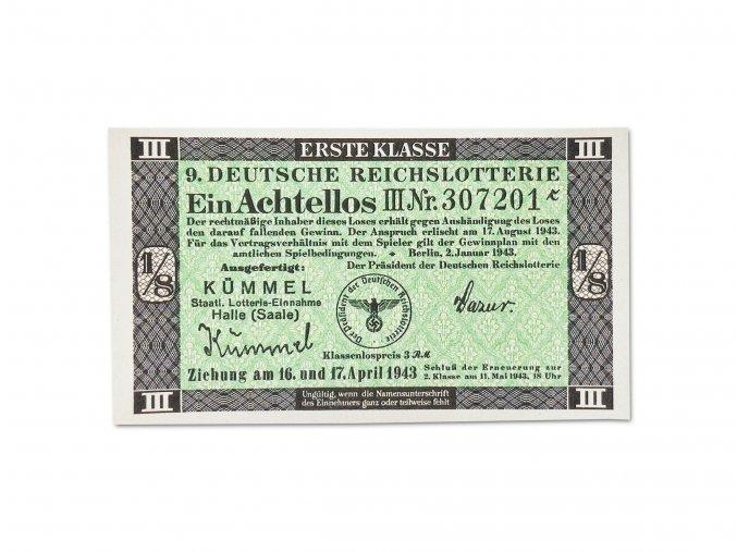 WW2 German Deutsche reichs lottery ticket reproductions WWII