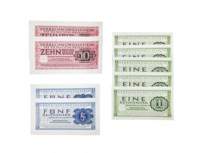 Salary soldat wehrmacht WW2 German banknotes reichsmark
