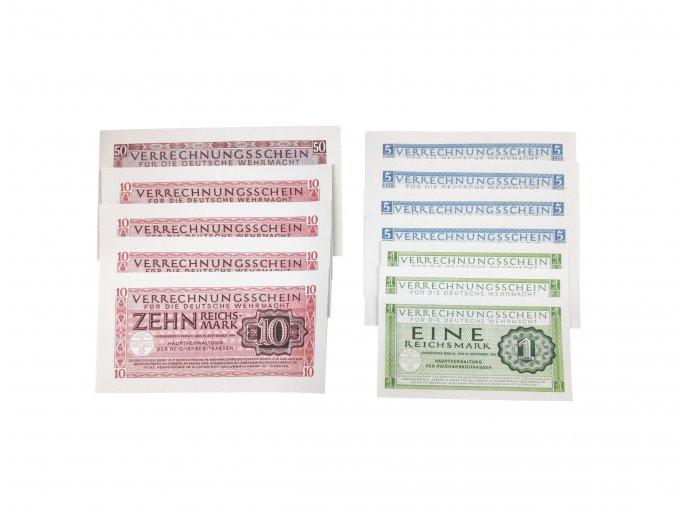 Salary obergefreiter WW2 German Wehrmacht banknotes reichmarks