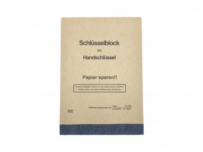 Wehrmacht key book notepad WW2 German tracing block map Schlüsselblock