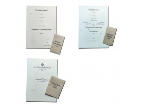 Badge certificates & envelopes
