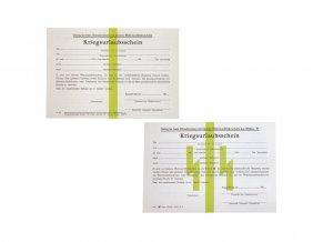 leave pass Kriegsurlaubsschein WW2 German travel certification