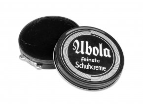 WWII German shoe cream box ubola Wehrmacht black Schuhcreme