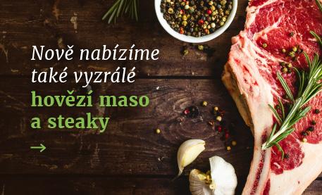Hovězí maso a stejky