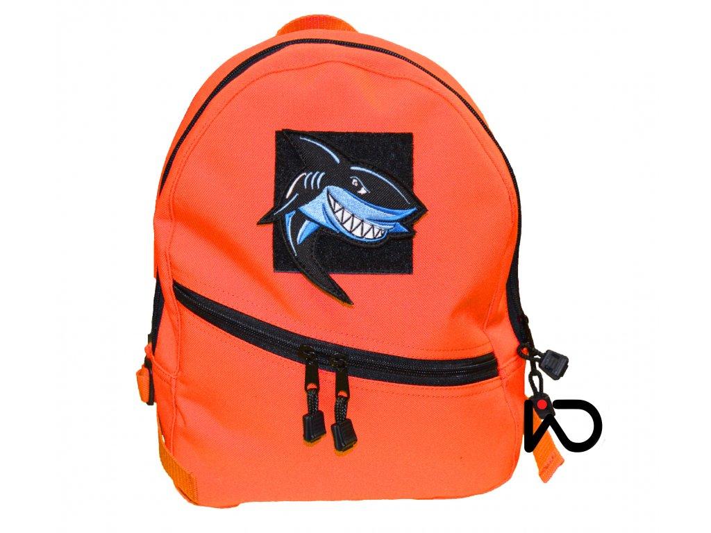 detsky batoh oranz. kreativni zralok