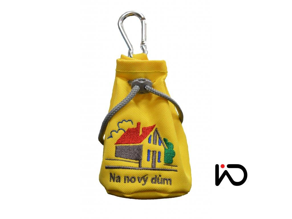 měšec na nový dům žlutý
