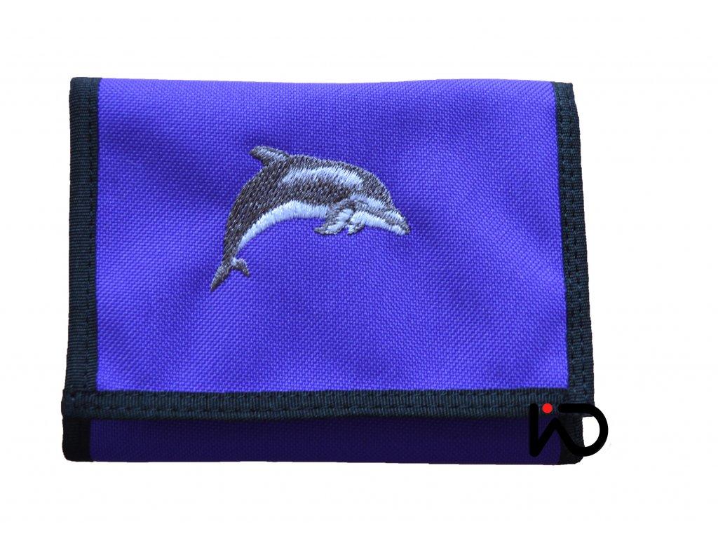 delfin fialova penezenka