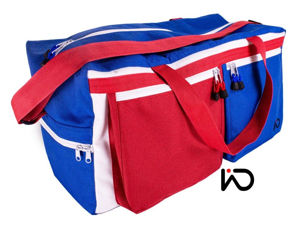 Cestovní taška trikolora dvě kapsy