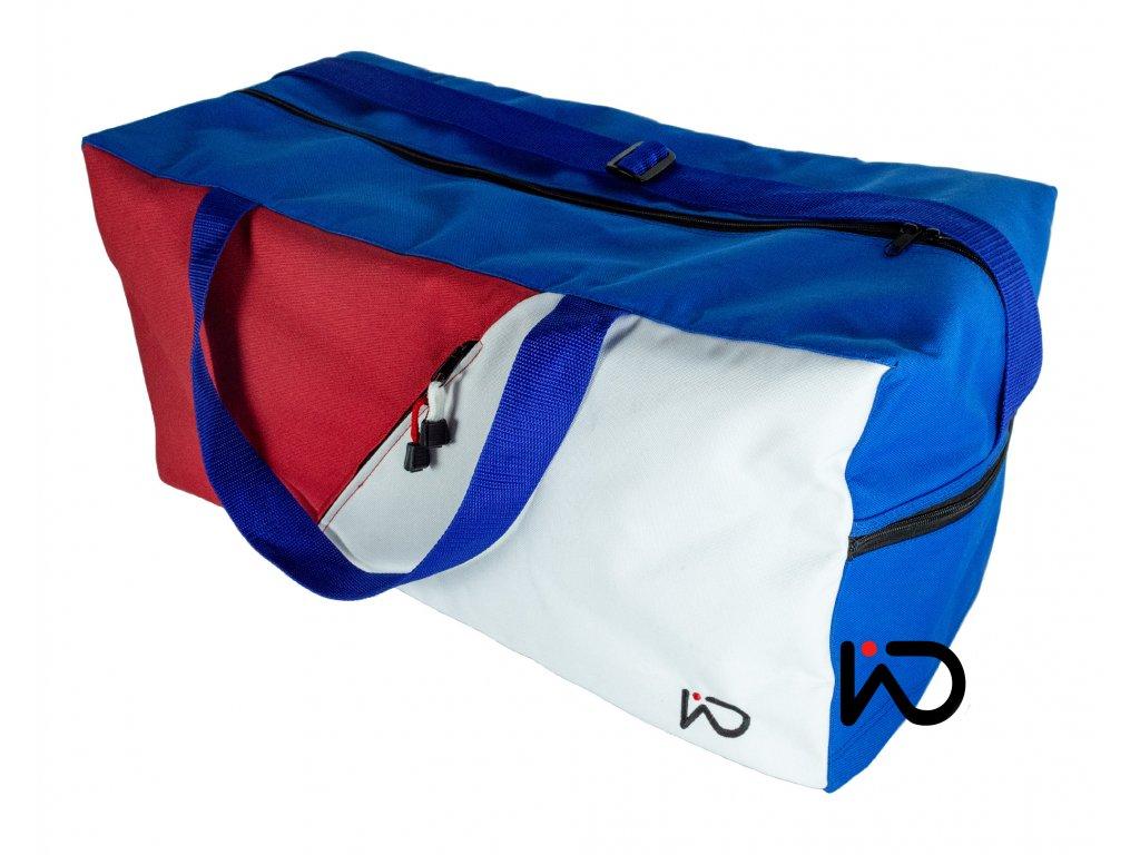 Cestovní taška trikolora šikmá kapsa