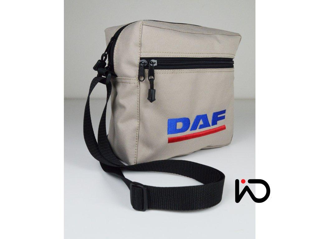 Taška přes rameno DAF - barevná výšivka