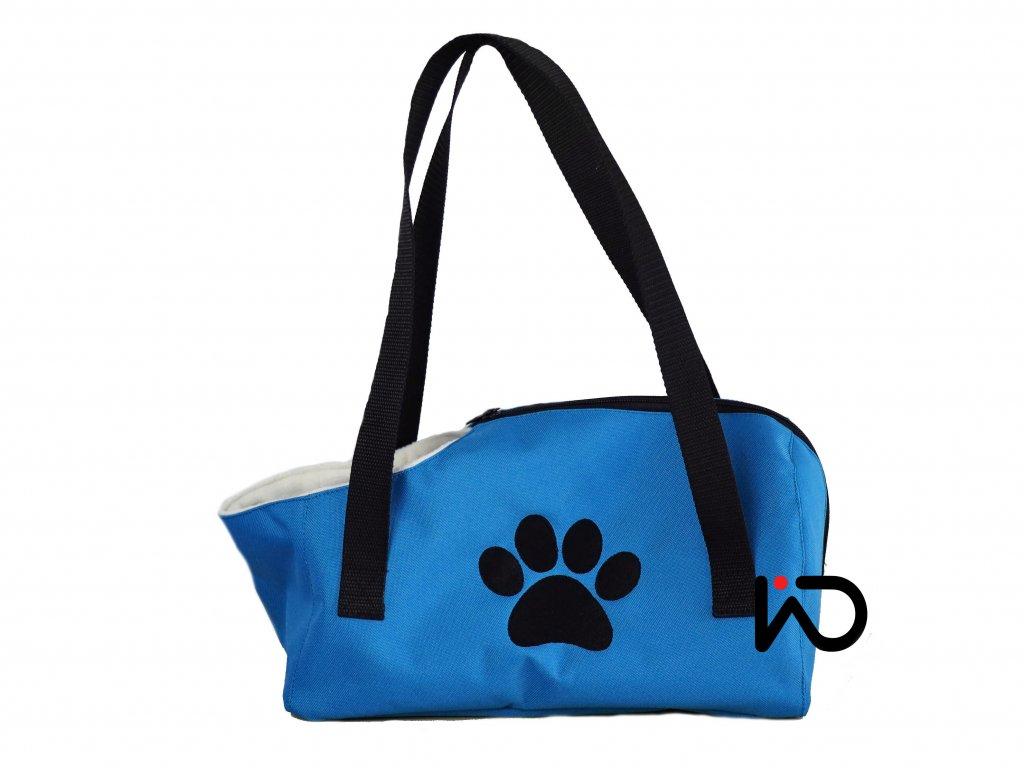 cervena taska na psa tlapka