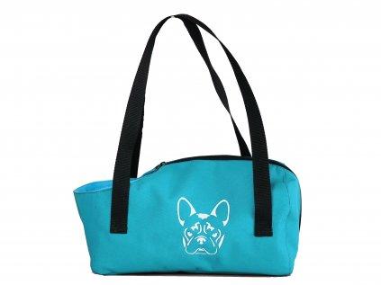 taska na psa buldocek sv modra