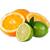 limetka - pomeranč