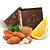 hořká čokoláda s pomerančem a mandlemi
