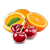 třešeň - pomeranč
