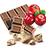 čokoláda - nugát s brusinkami