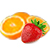 jahoda - pomeranč