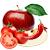 jablko - rajče - chili